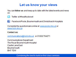Proposed merger Poole Bournemouth and Christchurch Hospital Trusts Consultation - Slide 15