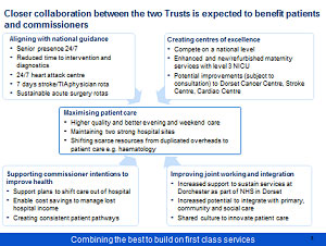 Proposed merger Poole Bournemouth and Christchurch Hospital Trusts Consultation - Slide 4