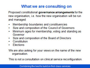 Proposed merger Poole Bournemouth and Christchurch Hospital Trusts Consultation - Slide 8