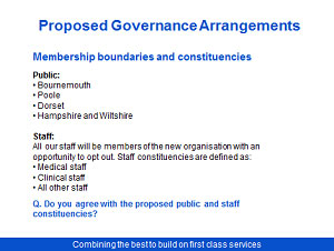 Proposed merger Poole Bournemouth and Christchurch Hospital Trusts Consultation - Slide 9