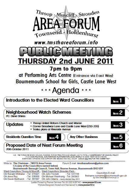 TMSTH Area Forum Agenda June 2011 - Side 1