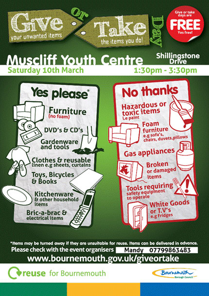 Muscliff Give or Take Day Leaflet 10th March 2012