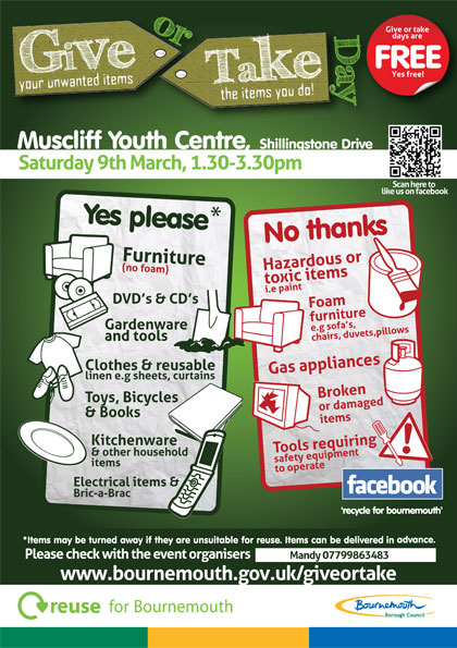 Muscliff Give or Take Day Leaflet 9th March 2013