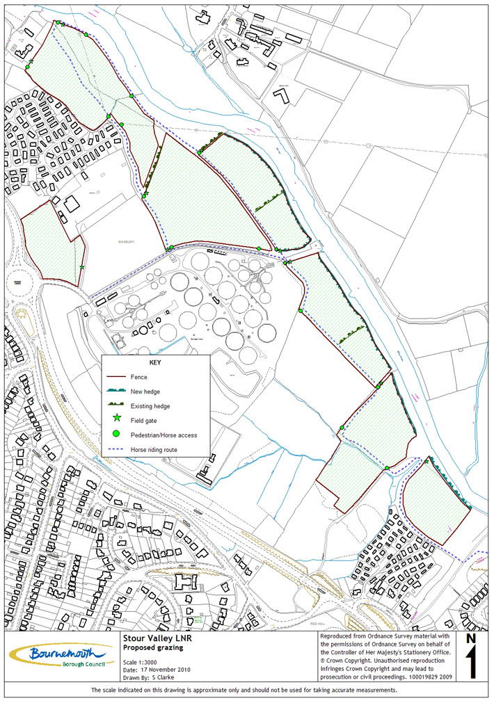 Stour Valley Local Nature Reserve Grazing Proposals Map Bournemouth