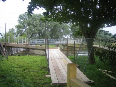 Temporary Bridge over Weir at Throop, Bournemouth 1