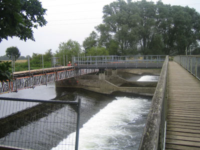 Temporary Bridge over Weir at Throop, Bournemouth 2